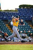 Siena Saints pinch hitter Ben Rhodes (18) during a game against the Pittsburgh Panthers on February 24, 2017 at Historic Dodgertown in Vero Beach, Florida.  Pittsburgh defeated Siena 8-2.  (Mike Janes/Four Seam Images)