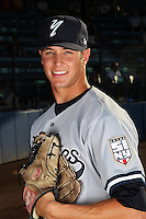 Staten Island Yankees pitcher Nate Forer poses for a photo before a game vs. the Jamestown Jammers at Russell Diethrick Park in Jamestown Jammers, New York July 15, 2010.   Jamestown defeated Staten Island 5-1.  Photo By Mike Janes/Four Seam Images
