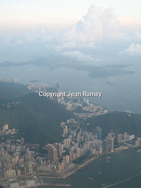 Flying above Hong Kong