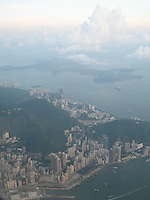 Flying above Hong Kong