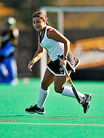 24 October 2008: University of Vermont Catamounts' midfielder Katie Smith, a Junior from Newburyport, MA, in action against the Hofstra University Pride at Moulton Winder Field, in Burlington, Vermont. The Catamounts shut out the visiting Pride 3-0...Mandatory Photo Credit: Ed Wolfstein Photo
