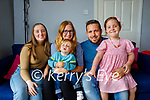 4 year old Allanah Foley with her family at home in Killorglin. Seated l to r: Katelyn Cahallane, Adam Foley, Geraldine Dunleavy and Andrew and Allanah Foley