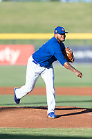 AZL Cubs 1 starting pitcher Yunior Perez (62) follows through on his delivery during an Arizona League playoff game against the AZL Rangers at Sloan Park on August 29, 2018 in Mesa, Arizona. The AZL Cubs 1 defeated the AZL Rangers 8-7. (Zachary Lucy/Four Seam Images)
