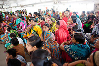 The garments workers of Tuba group gathered in a protest for demanding their 3 months' salary and other benefits.  Dhaka, Bangladesh