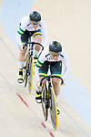 The team of Australia with Kaarle Mcculloch and Stephanie Morton compete in Women's Team Sprint - Qualifying match as part of the 2017 UCI Track Cycling World Championships on 12 April 2017, in Hong Kong Velodrome, Hong Kong, China. Photo by Victor Fraile / Power Sport Images