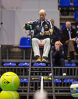 Rotterdam, Netherlands, December 17, 2015,  Topsport Centrum, Lotto NK Tennis,Chair umpire Rob Mulder (NED)<br /> Photo: Tennisimages/Henk Koster