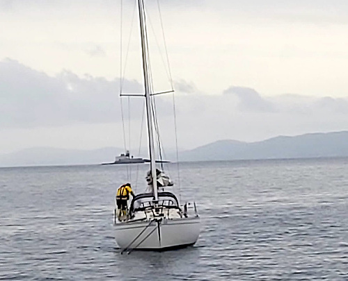 The lifeboat crew motored the yacht to a safe berth in Castletownbere harbour