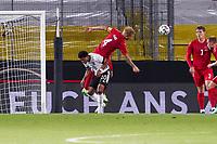 Simon Kjaer (Dänemark, Denmark) klaert gegen Serge Gnabry (Deutschland Germany) - Innsbruck 02.06.2021: Deutschland vs. Daenemark, Tivoli Stadion Innsbruck