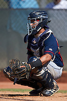 Cleveland Indians Gianpaul Gonzalez (6) during an instructional league game against the Milwaukee Brewers on October 8, 2015 at the Maryvale Baseball Complex in Maryvale, Arizona.  (Mike Janes/Four Seam Images)