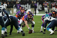Center Charles Missant und Quarterback Jeff Otis (beide Frankfurt Galaxy)