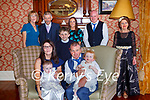 Cillian Walash Killarney celebrated his christening with his parents Noel and Karen brother Cian and sister Kayleigh in the Arbutus Hotel on Sunday back row l-r: Katerina and Ben Breen, Eilish O'Connor, Tommy and Mary Walsh