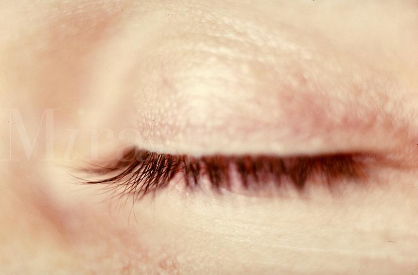 Woman's eye, close-up. Woman. Douglaston NY.