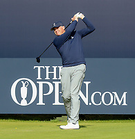 200719 | The 148th Open - Day 3<br /> <br /> The first game marker Royal Prortrush professional Gary McNeill on the 1st tee during the 148th Open Championship at Royal Portrush Golf Club, County Antrim, Northern Ireland. Photo by John Dickson - DICKSONDIGITAL