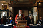 """Newly elected Mayor Dr John Spencer. <br /> <br /> There has been a mayor of Winchelsea for over 700 years, with records dating back to 1295. The Mayoring Ceremony takes place annually on Easter Monday, and since 1665 this has been held in the Upper Court Hall. The ceremony recognises the continuing existence of the last surviving unreformed Corporation of England and Wales and comprises an Assembly of the Freemen of Winchelsea followed by the """"Annual Sitting of the Hundred"""" the principal business of which is the installation of the Major for the coming year.<br /> <br /> The new Mayor is attended by twelve Jurats of the Town, selected annually at the Mayoring. The Mayor is assisted by the Town Clerk, the Chamberlain and the Sergeant-at-Mace."""