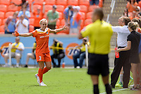 Houston, TX - Saturday April 15, 2017: Rachel Daly during a regular season National Women's Soccer League (NWSL) match between the Houston Dash and the Chicago Red Stars at BBVA Compass Stadium.