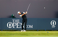 160719 | The 148th Open - Tuesday Practice<br /> <br /> Haotong Li of China on the first tee during practice for the 148th Open Championship at Royal Portrush Golf Club, County Antrim, Northern Ireland. Photo by John Dickson - DICKSONDIGITAL