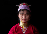 Long neck Padaung women at Ywama village, Inle Lake, Shan State, Myanmar