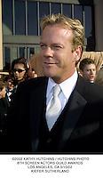 ©2002 KATHY HUTCHINS / HUTCHINS PHOTO.8TH SCREEN ACTORS GUILD AWARDS.LOS ANGELES, CA 3/10/02.KIEFER SUTHERLAND