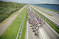 peloton taking over the road<br /> <br /> 3rd World Ports Classic 2014<br /> stage 1: Rotterdam - Antwerpen 195km