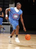 1/2G Andrew Steele (Birmingham, AL / John Carroll) moves the ball during the NBA Top 100 Camp held Thursday June 21, 2007 at the John Paul Jones arena in Charlottesville, Va. (Photo/Andrew Shurtleff)