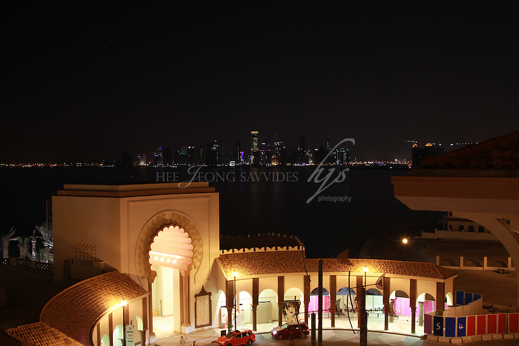 The Pearl and the West Bay by night, Doha, Qatar | Mar 10