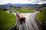 Transmilenio a public and mass transportation system in Bogota
