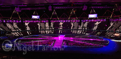 """12 AUG 2012 - LONDON, GBR - The """"A Symphony of British Music"""" section of the London 2012 Olympic Games Closing Ceremony in the Olympic Stadium in the Olympic Park, Stratford, London, Great Britain .(PHOTO (C) 2012 NIGEL FARROW)"""