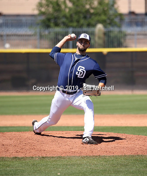 Jake Sims - San Diego Padres 2019 extended spring training (Bill Mitchell)