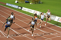 26th August 2021; Lausanne, Switzerland;  Shelly-Ann Fraser-Pryce wins the womens 100m during Diamond League athletics meeting  at La Pontaise Olympic Stadium in Lausanne, Switzerland.