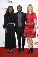 """director, Amma Asante, David Oyelowo and Rosamund Pike<br /> at the London Film Festival photocall for the opening film, """"A United Kingdom"""", Mayfair HotelLondon.<br /> <br /> <br /> ©Ash Knotek  D3159  05/10/2016"""
