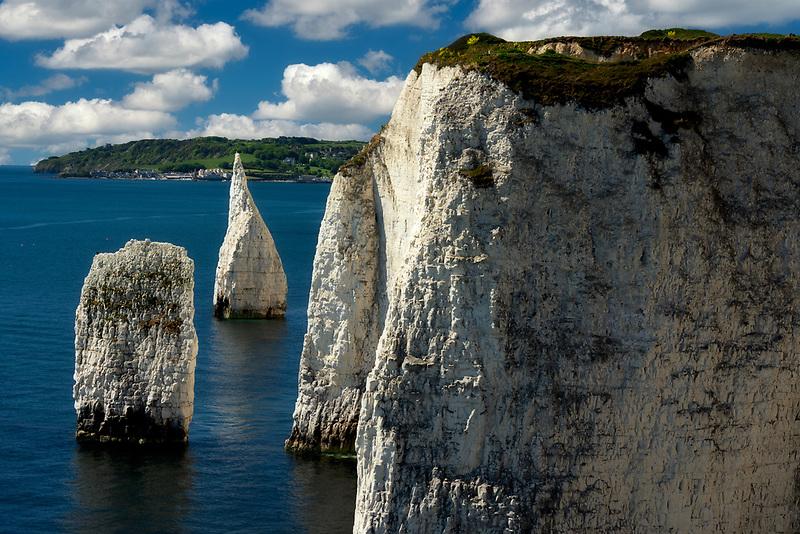 Old Harry Rocks with the Wedge. Dorset, Jurassic Coast, England.