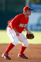July 4, 2009:  Third Baseman Alan Ahmady of the Batavia Muckdogs in the field during a game at Dwyer Stadium in Batavia, NY.  The Muckdogs are the NY-Penn League Short-Season Class-A affiliate of the St. Louis Cardinals.  Photo By Mike Janes/Four Seam Images