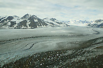 Yukon Scenic Aerial Of Glacier & Mountain