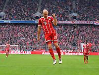 10.03.2018,  Football 1.Liga 2017/2018, 26. match day,  FC Bayern Muenchen - Hamburger SV, in Allianz Arena Muenchen. Arjen Robben (FC Bayern Muenchen) . *** Local Caption *** © pixathlon<br /> <br /> +++ NED out !!! +++<br /> Contact: +49-40-22 63 02 60 , info@pixathlon.de