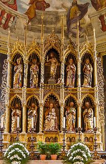 Italy, Lombardia, Salò: cathedral Santa Maria Annunziata, altar | Italien, Lombardei, Gardasee, Salò: der Dom Santa Maria Annunziata, Altar