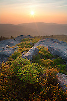 Spring sunrise over Second and Third Peaks of Pine Mountain, Mount Rogers National recreation Area