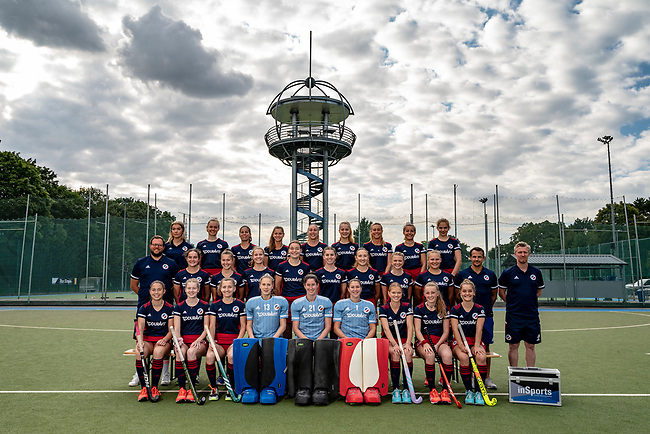 Mannheim, Germany, August 26: Shooting with Mannheimer Hockeyclub women and men 1. Bundesliga teams on August 26, 2021 at Am Neckarkanal in Mannheim, Germany. (Photo by Dirk Markgraf / www.265-images.com) *** Local caption ***