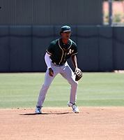 Jalen Greer - Oakland Athletics 2021 extended spring training (Bill Mitchell)