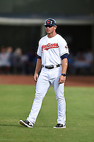 Peoria Javelinas coach Dave Wallace (17) during an Arizona Fall League game against the Mesa Solar Sox on October 15, 2014 at Surprise Stadium in Surprise, Arizona.  Mesa defeated Peoria 5-2.  (Mike Janes/Four Seam Images)