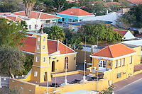 Kralendijk, Bonaire, Leeward Antilles.  Lighthouse, Built 1932.  Cannons from the Dutch Fort.