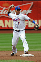 New York Mets infielder Ruben Tejada #11 during a game against the Washington Nationals at Citi Field on September 15, 2011 in Queens, NY.  Nationals defeated Mets11-1.  Tomasso DeRosa/Four Seam Images