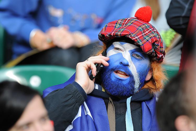 A Scottish fan ahead of the Quarter Final of the Rugby World Cup 2015 between Australia and Scotland - 18/10/2015 - Twickenham Stadium, London<br /> Mandatory Credit: Rob Munro/Stewart Communications