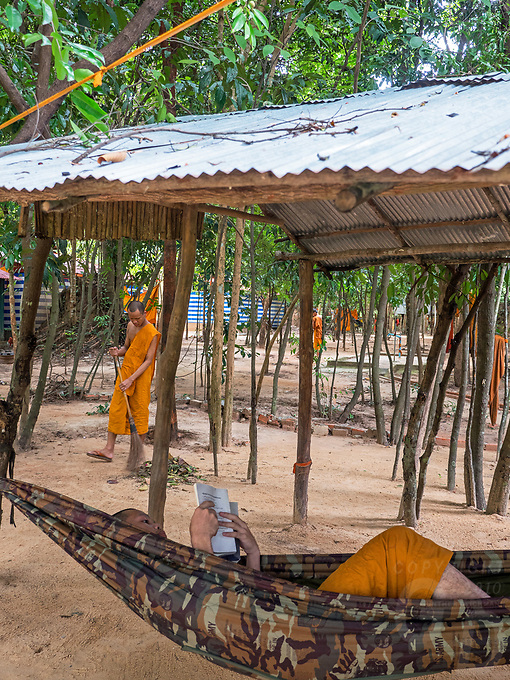 This secluded monastery is located some 40km from Siem Reap well hidden in the forrest and accommodates between 150 and 200 Buddhist Monks. Cambodia