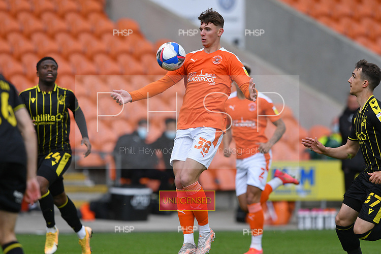 09/05/2021 Sky Bet League 1 Blackpool v Bristol Rovers  <br /> <br /> Brad Holmes in action for Blackpool