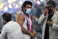 Turkish actor Can Yaman is seen on the tribune during the Uefa Euro 2020 Group stage - Group A football match between Turkey and Italy at stadio Olimpico in Rome (Italy), June 11th, 2021. Photo Andrea Staccioli / Insidefoto
