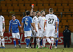 St Johnstone v Inverness Caley Thistle…09.03.16  SPFL McDiarmid Park, Perth<br />Gary Warren is sent off<br />Picture by Graeme Hart.<br />Copyright Perthshire Picture Agency<br />Tel: 01738 623350  Mobile: 07990 594431