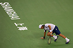 SHANGHAI, CHINA - OCTOBER 11:  Fernando Verdasco of Spain falls into the court during his match against Thiemo de Bakker of The Netherlands during day one of the 2010 Shanghai Rolex Masters at the Shanghai Qi Zhong Tennis Center on October 11, 2010 in Shanghai, China.  (Photo by Victor Fraile/The Power of Sport Images) *** Local Caption *** Fernando Verdasco