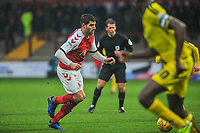 Fleetwood Town's forward Ched Evans (9) during the Sky Bet League 1 match between Fleetwood Town and Burton Albion at Highbury Stadium, Fleetwood, England on 15 December 2018. Photo by Stephen Buckley / PRiME Media Images.