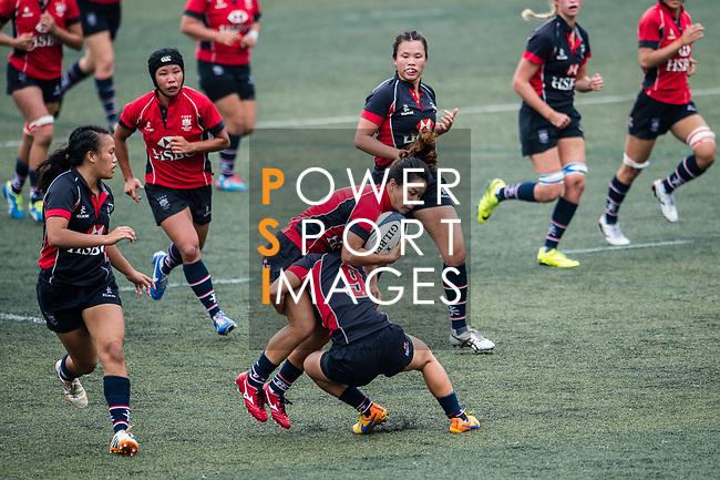 Sham Wai Sum of Lions (L) in action during the Women's National Super Series 2017 on 13 May 2017, in Hong Kong Football Club, Hong Kong, China. Photo by Marcio Rodrigo Machado / Power Sport Images