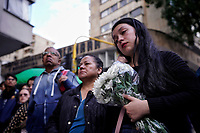 BOGOTÁ - COLOMBIA, 27-12-2019:Conmemoración de la muerte de Dylan Cruz por parte de un capitán del Smad de la Policia Nacional./ Commemoration of the death of Dylan Cruz by a captain of the Smad of the National Police.. Photo: VizzorImage / Diego Cuevas / Contribuidor
